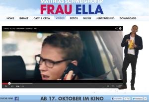 Frau Ella  Kinofilmstart mit Matthias Schweighöfer 17. Okt 2013