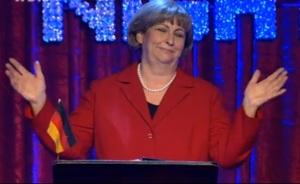 Maria Grund-Scholer alias Angela Merkel