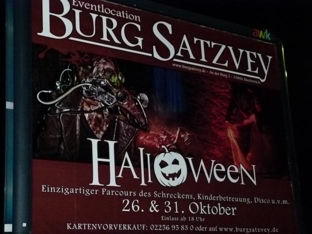 Halloween Party Burg Satzvey