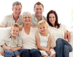 Mehrgenerationen-Handwerkerfamilie